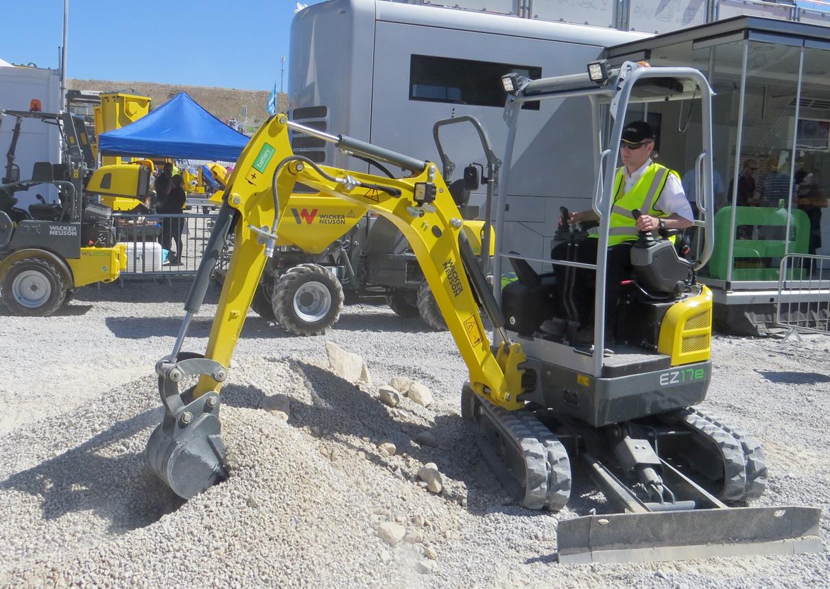 Wacker Neuson introduces electric mini excavator at Hillhead
