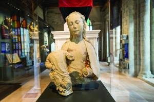 Madonna and Child from the Great Screen in the Decoding The Stones exhibition