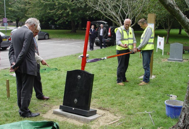 Memorial fixings test