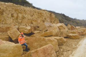Paul Keyte in Guiting Quarry