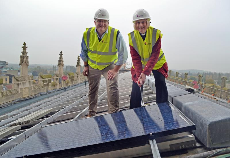 Solar Panels at Gloucester Cathedral