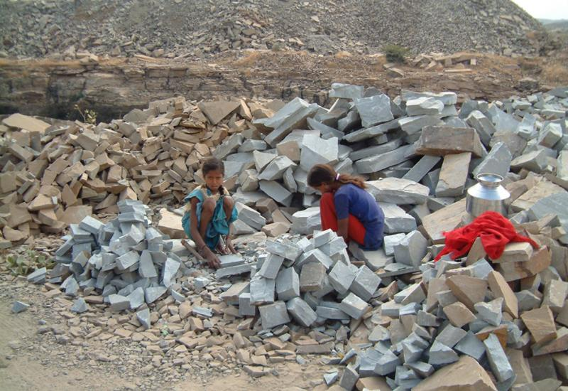 Indian sandstone quarry