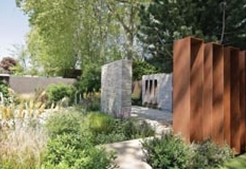 Portland limestone and Corton steel helped the Daily Telegraph Garden win Best Show Garden title at Chelsea.