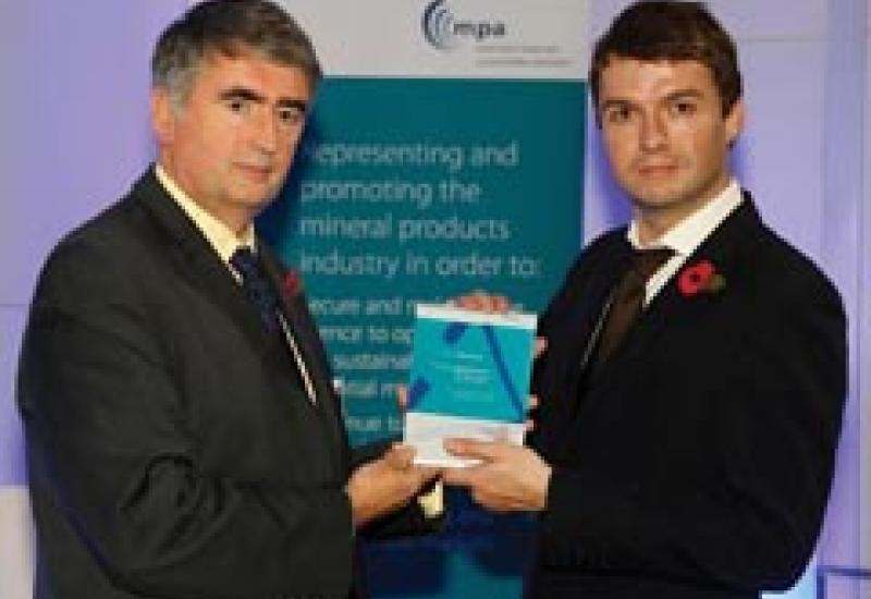 Albion's Barrie Thomas (right) receives the Award from Tom Mullarkey MBE, Chief Executive of RoSPA.