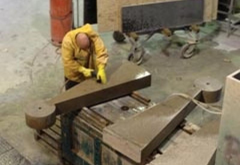 The Alphacam software speeded up production of 16 of these hefty Jura limestone steps for Toffolo Stirling.