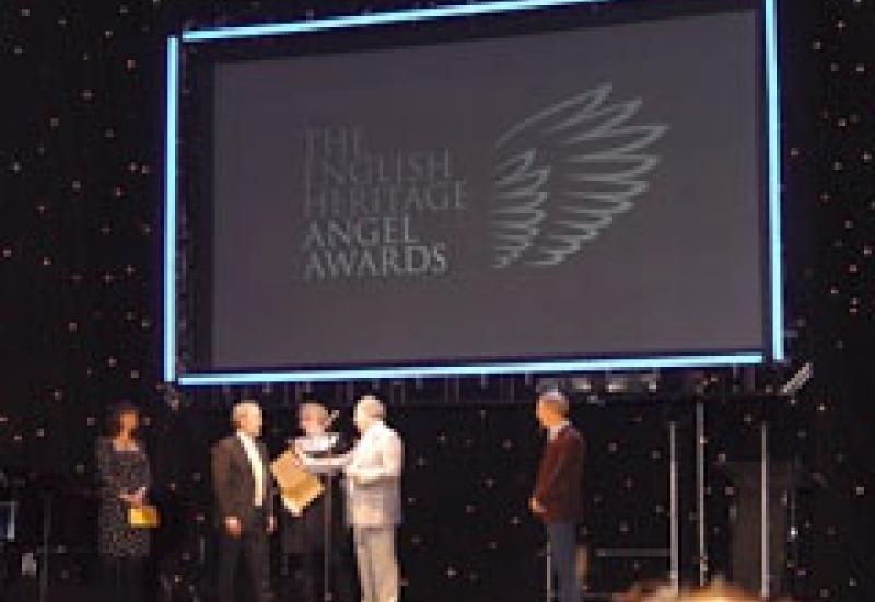 Andrew Lloyd Webber interviews winners at the  Angel Awards.