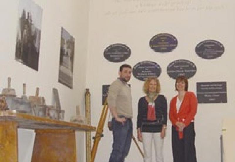 Sean Collins, Alex Ward (centre) and Moira Morris in the Boden & Ward showroom