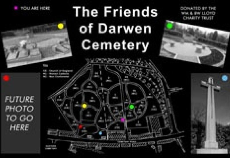 One of the black granite maps made by Brent Stevenson Memorials.