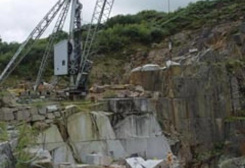 This is DeLank Quarry, one of the few granite quarries in the UK that is still working.