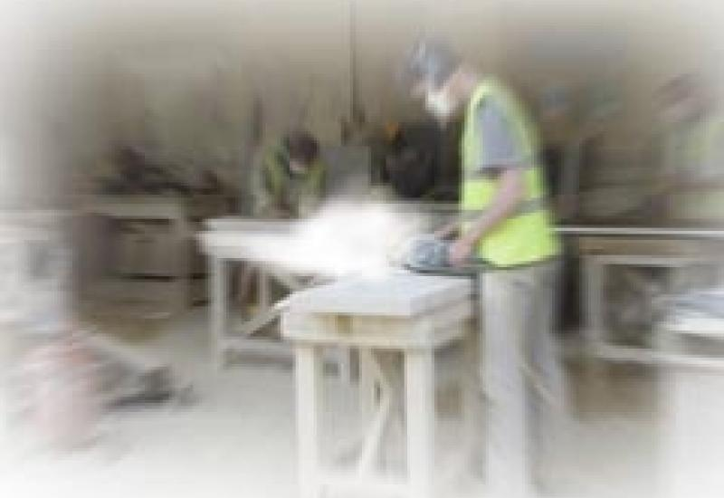 Dust can be an invisible killer in masonry workshops