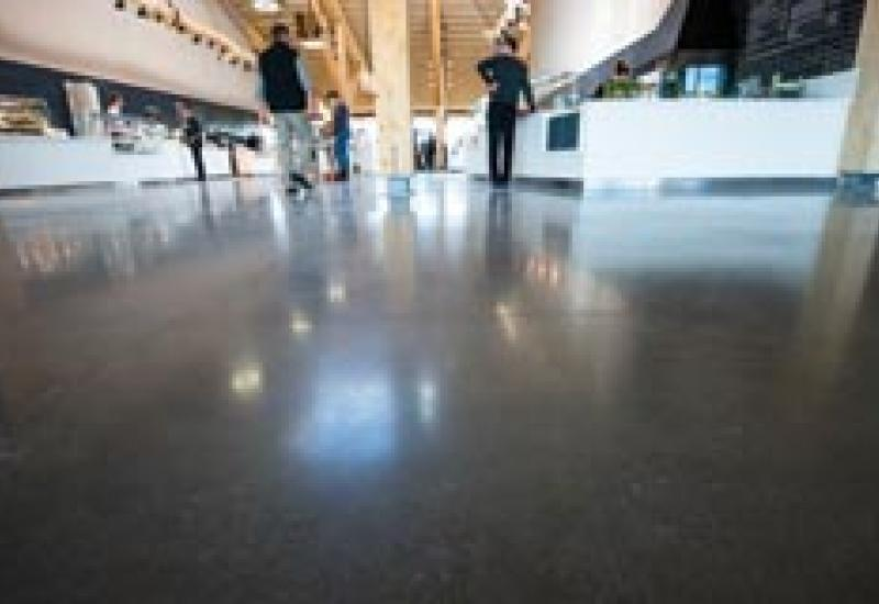 Floors protected by Fila at Britain's greenest motorway service station.