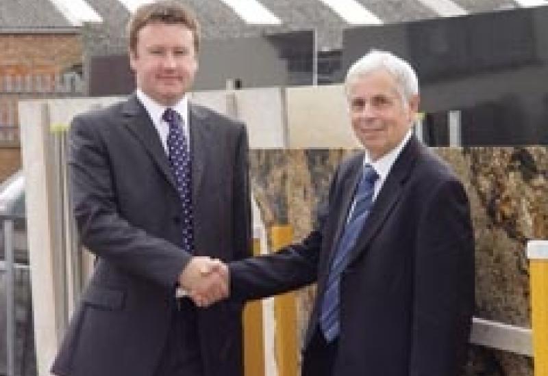Gerald Priestman, who is retiring, welcomes his successor, Duncan Reynolds
