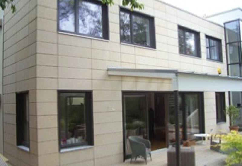 Bath stone cladding has finally completed the Grand Designs house that Tiffany built.
