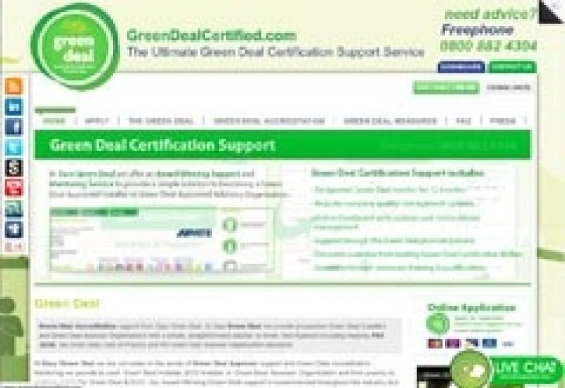 The 'Green Deal Certified' website that can help companies get accredited for Green Deal work.