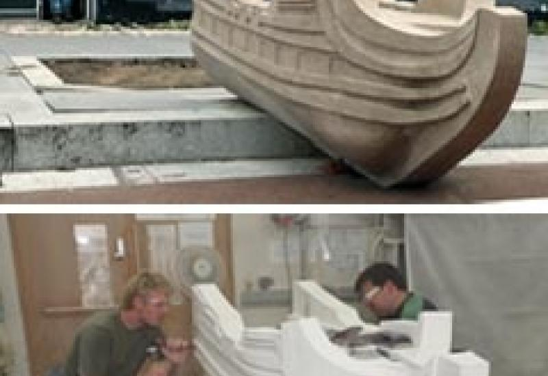 One of the Building Crafts College contributions to High Street 2012 was this Portland limestone boat.