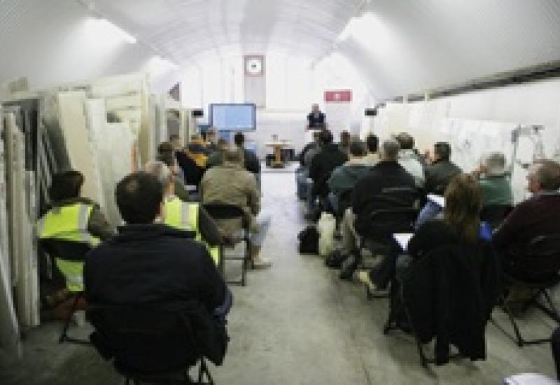 The first stone Health, Safety, Ethical & Environmental workshop in London last month. More are to be held. And this month Stone Federation launch their StoneSafe campaign.