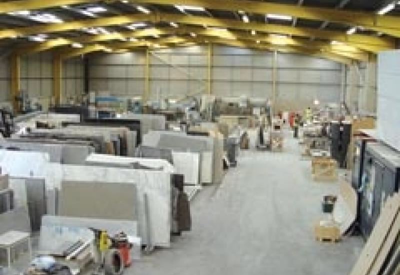 The workshop of In-Stone where a CNC robot will soon be up and working.