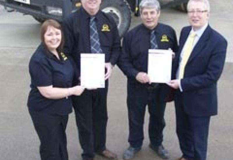 Nicola Bullas, Office Manager; Harry Kirk, Quarry Manager; Jim Slater, Garage & Maintenance Manager; Shaun Berry, Works Manager.