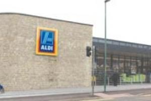 The new Aldi store in Maindstone, Kent, with its Ragstone walls.