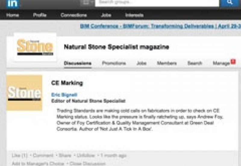 Join the Natural Stone Specialist Group on LinkedIn.