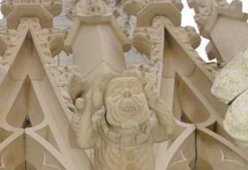 Some of the grotesques that gained York Minster the Craftsmanship Award in the Stone Awards in November.