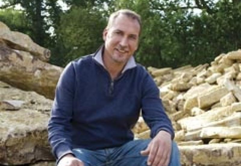 Simon Stainer in his Horsham Stone quarry.