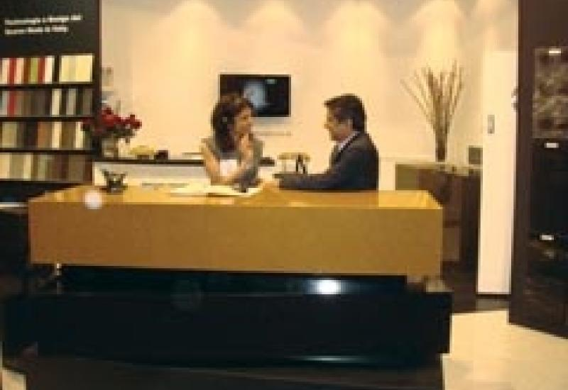 Shekhar and Bina Agarwal, the Directors of wholesalers Stone World at the Natural Stone Show in ExCeL London last year.