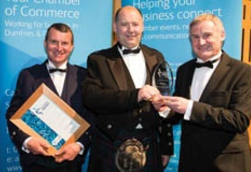 Ian Swan (left) and Douglas Swan flank Douglas Russell, a Partner at Armstrong Watson, which sponsored this category in the Award scheme.