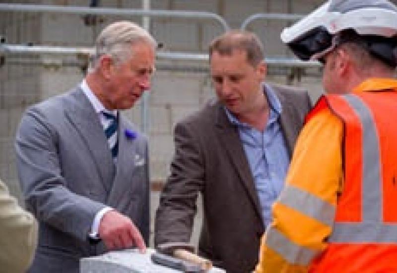Prince Charles meets Adrian Phillips and talks DeLank Cornish granite.
