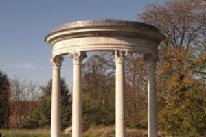 The Portland limestone Ponsonby Temple after its reconstruction by Chichester masons CWO.