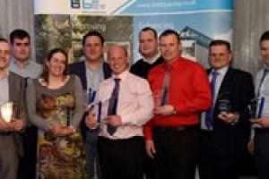 The winners of the Brett Approved Installer Awards 2014.