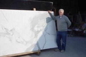 David Gray, owner of Dar Marble & Granite, at his premises in Manchester.
