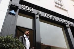 Alvaro de Ferranti at his newly acquired Paris Ceramics showroom in London.