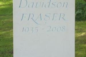 A Nabressina limestone memorial by Fergus Wessel's Stone Workshop in Milton-under-Wynchwood, Oxfordshire.