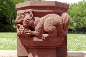 The carving Alex Wenham produced at the European Stone Festival in Freiburg at the weekend.