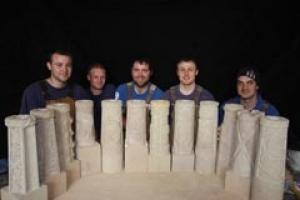 Some of Laing's masons and apprentices who made the water cannons for Craigievar Castle.