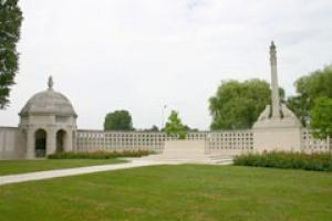 The memorial to the Indian servicemen who died in the Battle of Neuve Chapelle 100 years ago.