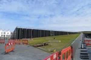 The Giant's Causeway visitor centre during construction. It opens today (3 July).