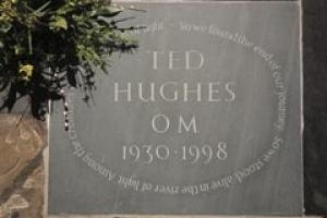 The Ted Hughes memorial in Westminster Abbey.