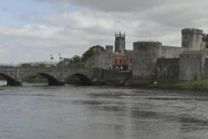 Thomond Bridge, where two stonemasons died while carrying out repairs. The bridge was built by King John in the 13th century to reach his castle.