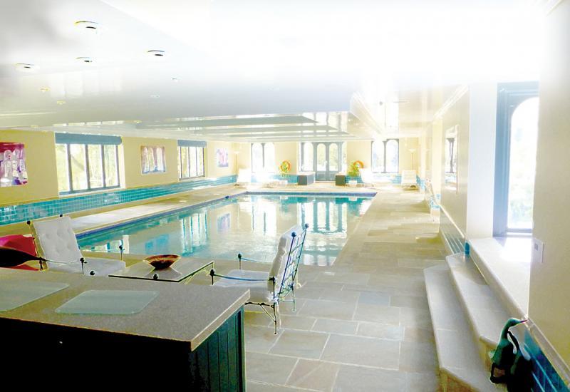Stone around pools