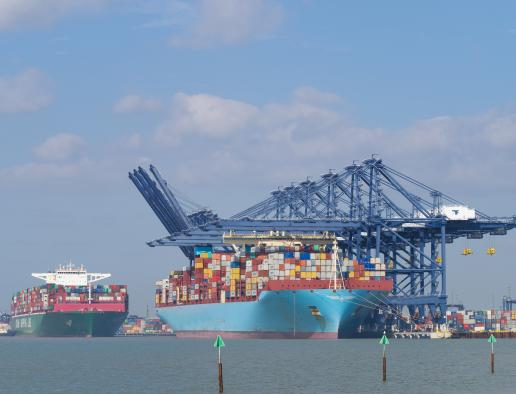 Containers at Felixstowe