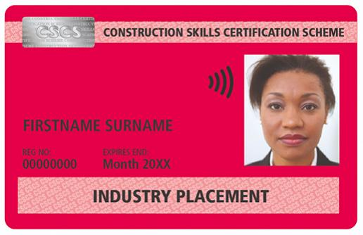 Industry Placement card for trainees