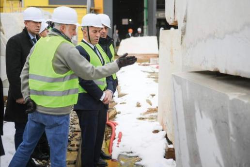 Ramish Haradinaj visits Fox Marble