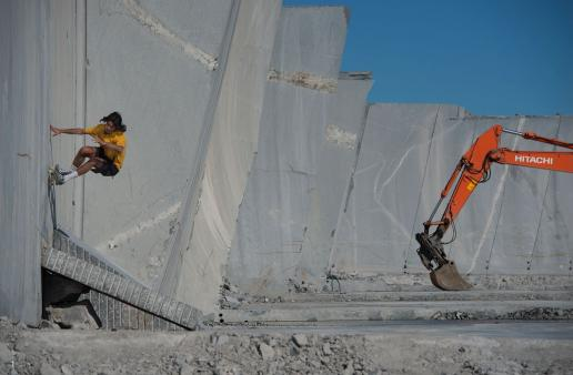 Skateboarding in Lundhs quarry