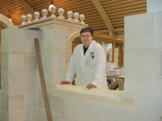 Nigel Gilkison at the Building Crafts College in London where he heads the masonry courses.
