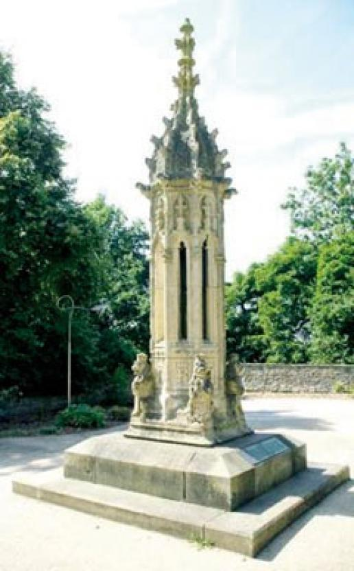 Clitheroe's Palace of Westminster Pinnacle in the Castle's War Memorial Gardens.