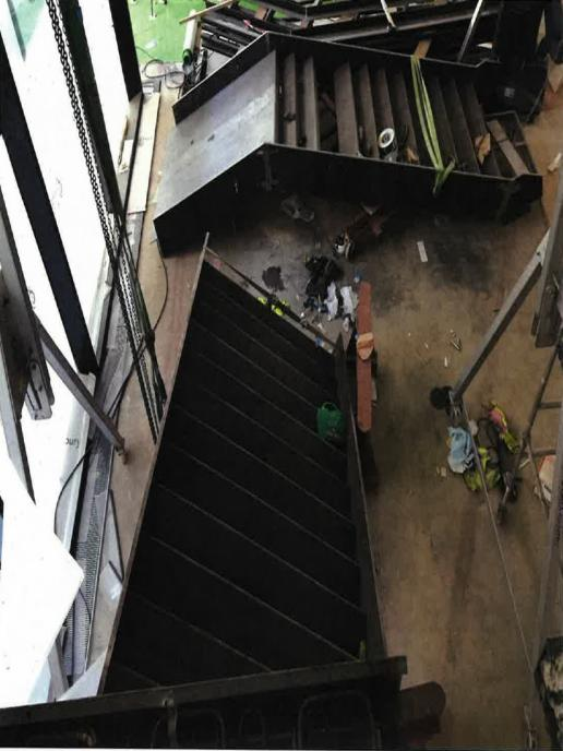 crashed staircase