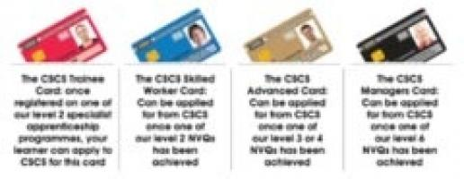 NVQs are your passport to the appropriate CSCS card.