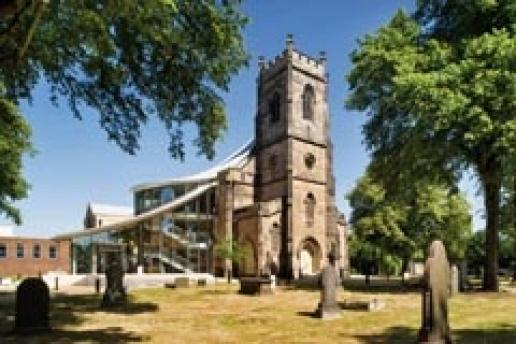 The grade II listed St Barnabas Church in Erdington, Birmingham – one of the buildings removed from the At Risk register.